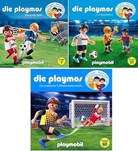 Die Playmos - Hörspiel Abenteuer - die Fußballfolgen (CD 7+51+60) im Set - Deutsche Originalware [3 CDs]