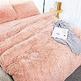 Blivener Manta Suave de Pelo Largo, Manta de Microfibra de Pelo sintético, Manta de Aire Acondicionado para sofá o Cama, Peluche, Rosa, 160 x 200 cm
