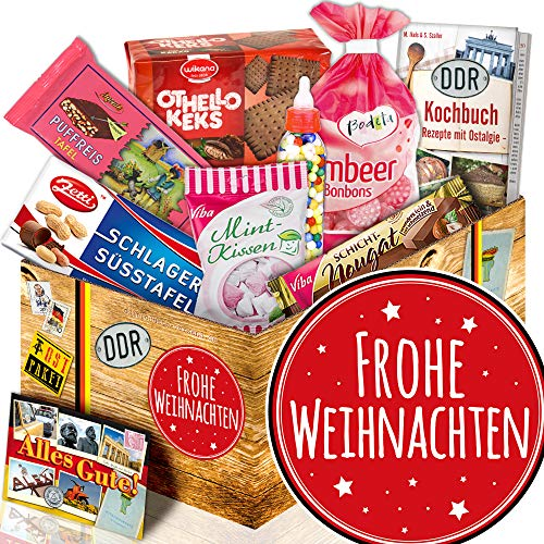 Frohe Weihnachten / Süssigkeiten Geschenk DDR / Weihnachtsgeschenkidee für Mama