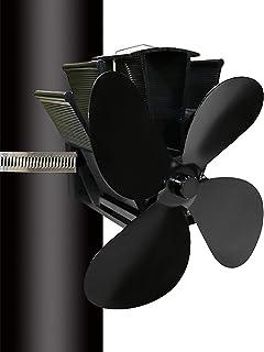 Yaosh Ulepszony wentylator kominkowy z 4 ostrzami do kominka / palnika drewna/kominka, przyjazny dla środowiska i wydajny ...