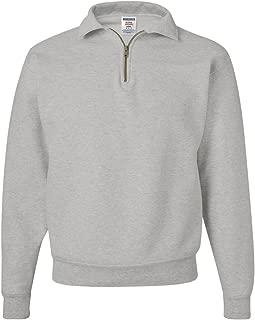 Jerzees Adult Preshrunk Seamless Quarter-Zip Fleece Sweatshirt