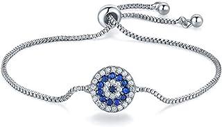 Sukkhi Crystals from Swarovski Platinum Plated Round Bracelet for Women and Girls (BC80835)