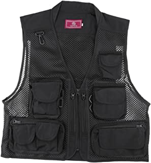 MagiDeal Men's Mesh Fishing Vest Photography Work Multi-Pockets Outdoors Journalist's Vest Jacket