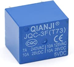 Baomain PCB Power Relay JQC-3F (T73) 5VDC SPST 7A 250VAC 10A 125VAC/28VDC 5 Pins Pack of 5