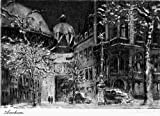 Kunstverlag Christoph Falk Einfarbige Radierung Aachen, Dom als Loses Blatt -