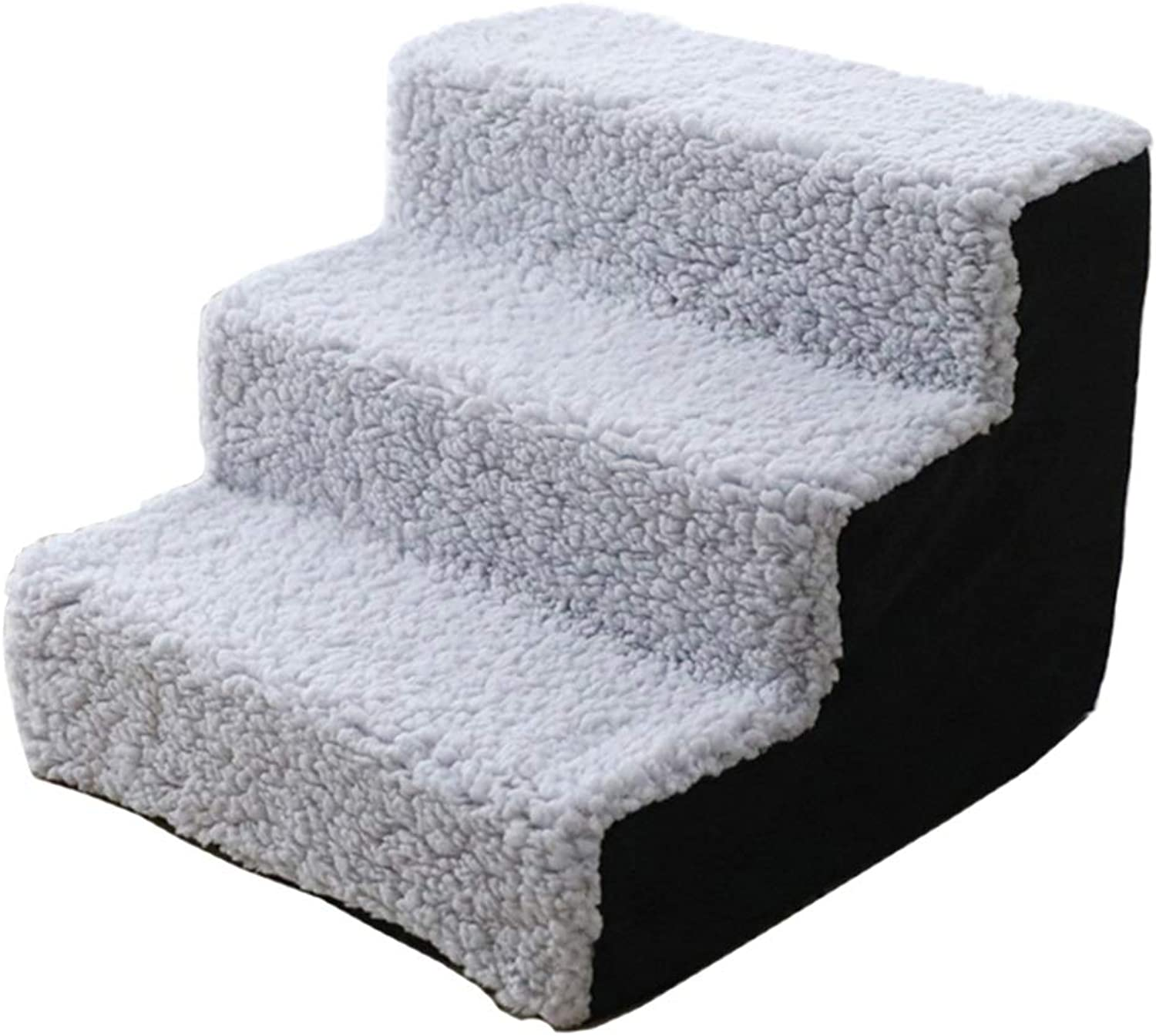 LXLA  Lightweight Dog Bed Stairs  3Step Pet Ladder Safety Ramp, Best for Small Dogs and Cats