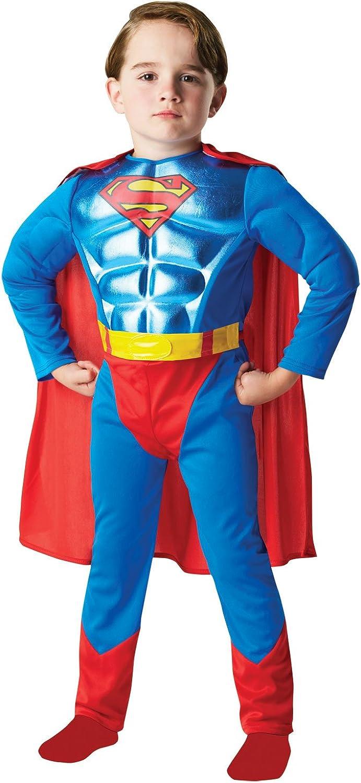 SUPERMAN Metallic Chest Kids Costume Film Fancy Dress