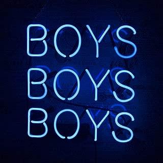 Neon Sign Light, Neon Lamps for Bar Bedroom Handcraft Real Glass Wall Decor, BOYS BOYS BOYS, 10