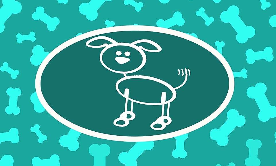 Hundehalstuch mit Name und versch. Hundemotive für Welpen, kleine & große Hunde Dreieck Halstuch (L, Hund 1, türkis)