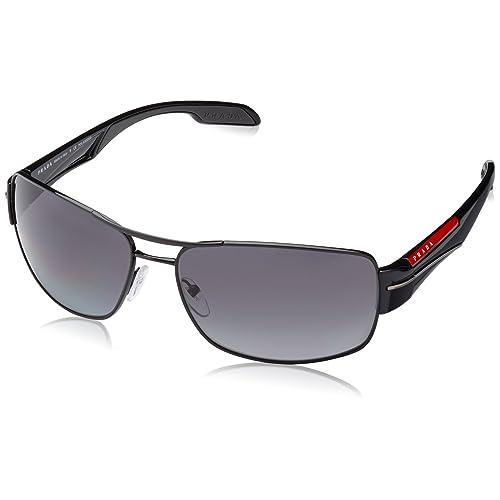 3f4fdddb7daf Prada Linea Rossa Men s PS 53NS Sunglasses Black   Polar Grey Gradient 65mm