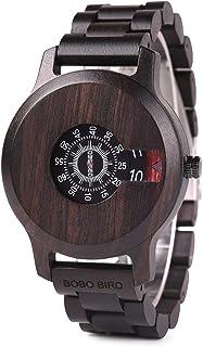 BOBO BIRD Mens Unique Fashion Classic Casual Retro Wooden Wood Watches Luxury Brand Quartz Wristwatches