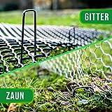 GardenGloss® Erdanker unverzinkt - Stabile Bodenanker für Unkrautvlies, Gartenvlies, Zaun & Netz - 150 MM Lang, 25 MM Breit, Ø 2.7 MM (100 Stück) - 4