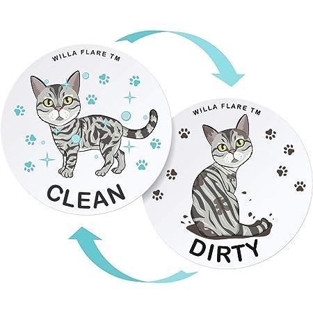 Clean Dirty Dishwasher Magnet Union Jack KEEP CALM Laminated Reversible Magnetic Dishwasher Sign Geek Kitchen