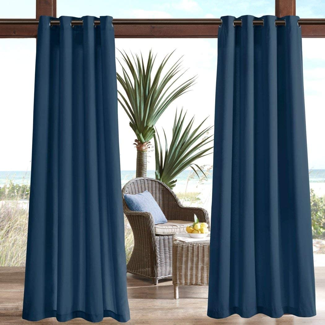U.A.A. INC. San Francisco Mall 1pc 84 Navy Color Gazebo Curtain Outdo Panel Single All stores are sold