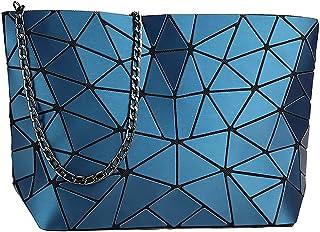 whatUneed Borsa a tracolla geometrica di modo delle donne, borsa casuale del messaggero del Crossbody del cuoio dell'unità...