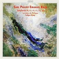 CPE Bach: Symphonies (Wq 173-175, 178, 180) /Les Amis de Philippe * Remy (1996-12-17)