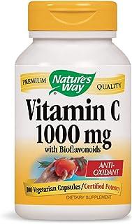 Nature's Way Vitamin C 1000 mg with Bioflavonoids; 1000 mg Vitamin Cper Serving; 100 Vegetarian Capsules (Packaging May Vary)