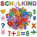 Alphabet Letters Numbers Star Heart Self-Adhesive Foam Stickers,Foam Glitter Stickers for Kids Back to School Supplies