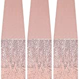 GFCC Sequin Table Runners - 3 Pack 12x72inch Sparkly Rose Gold Table Runner for Wedding Party Christmas Dining Decor