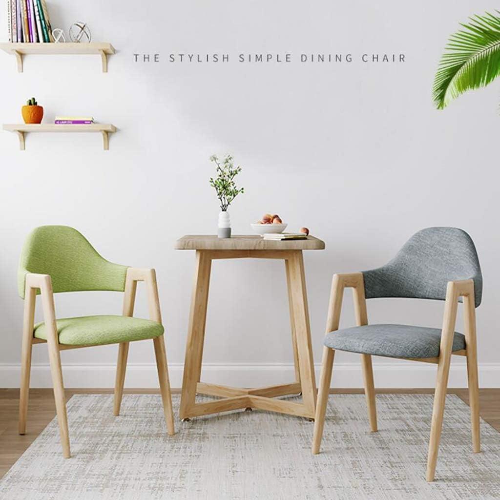 HURONG168 Chaises de cuisine Nordic chaise de bureau chaise ordinateur tabouret retour à la maison siège lounge (Couleur : Gris clair) Vert