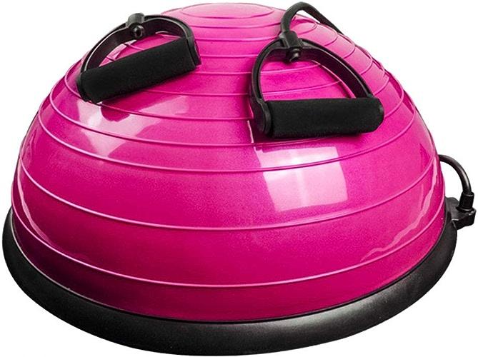 XXHDYR Ballon d'équilibre de Yoga Bola Pilates équilibre hémisphère Gym Exercice avancé Anti-déflagrant 4 Couleurs Balle de Massage (Couleur   D)