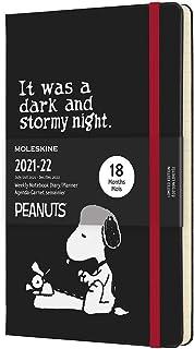 Moleskine 2021-2022 Peanuts Weekly Planner, 18m, Large, Black, Hard Cover (5 X 8.25)