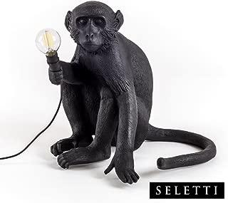 Seletti Monkey Lamp Black - Sitting Black