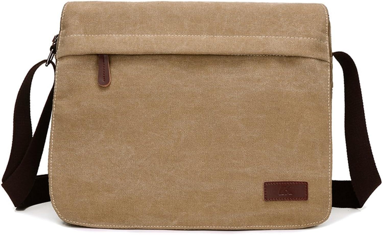 Herren einzigen schultertaschen,canvas-tasche,messenger bag-Khaki B075K5G2RW  Rich-pünktliche Lieferung