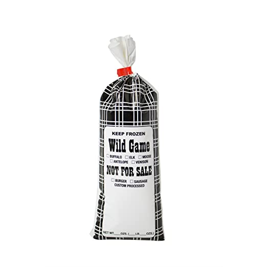1-Lb capacity for all wild game meat Burger Sausage Freezer Bags 100 ct