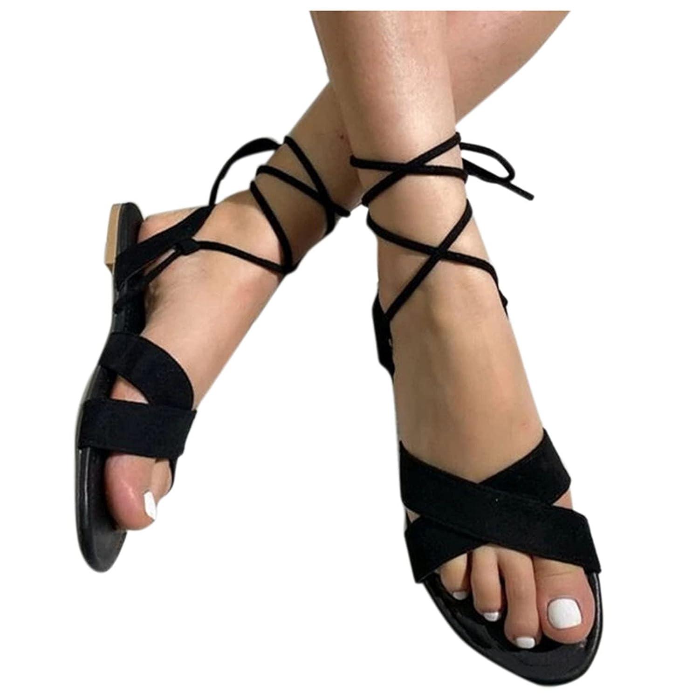 Padaleks Women's Summer Sandals Beach Bohemian Ankle Strap Flip