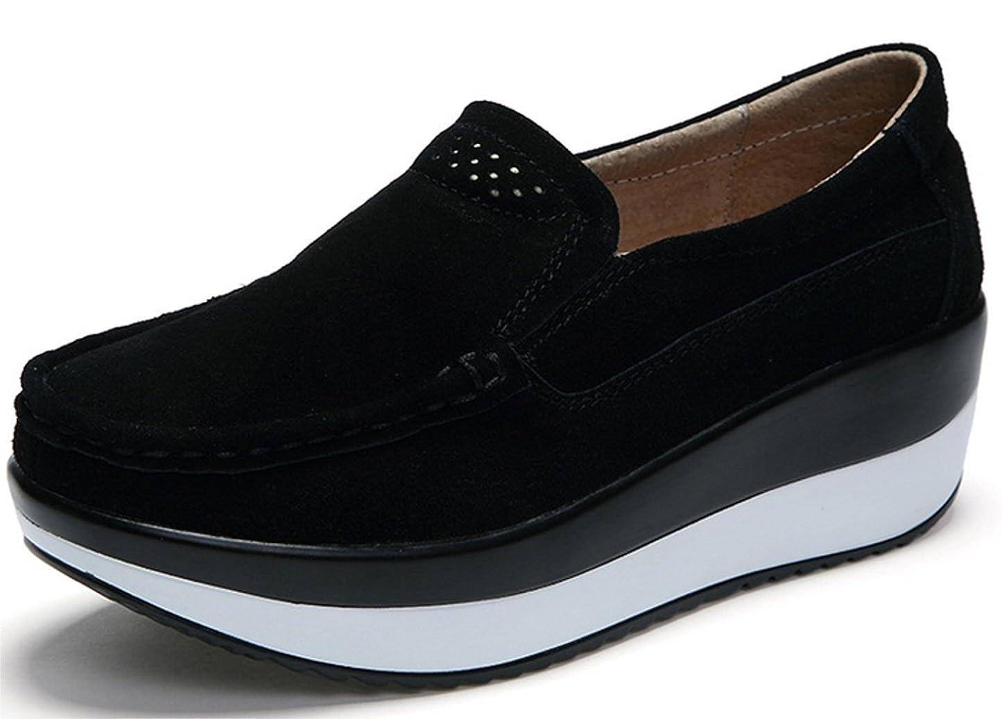 犬命令的水没(ダダウン)DADAWEN ウォーキングシューズ レディース 船型底 姿勢矯正 スニーカー 軽量 歩くやすい 疲れにくい 厚底 婦人靴 22.5~27cm