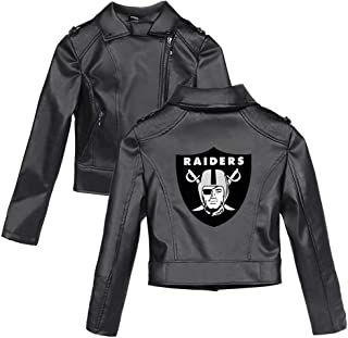 Leather Jacket with Football Team Rugby League Logo Lapel Motor Coat Zip Biker Punk Cropped Outerwear for Women & Men