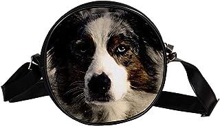 Coosun Umhängetasche für Hunde und Haustiere, abstrakte Vintage-Optik, rund, Schultertasche für Kinder und Damen