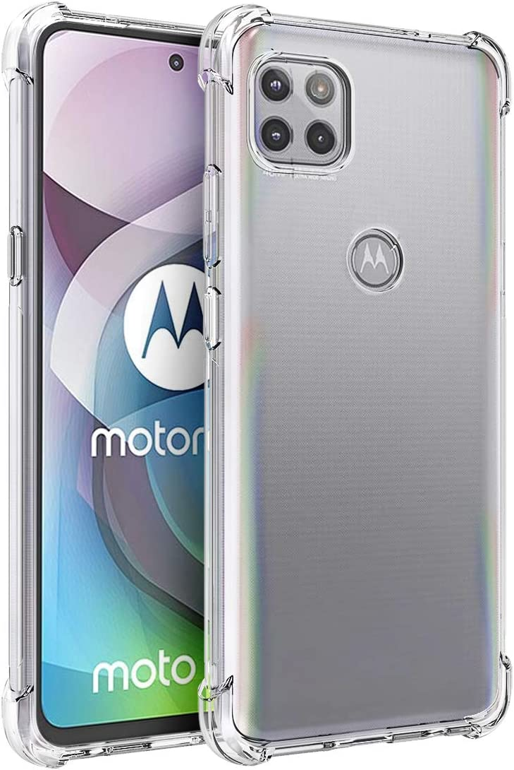 Osophter for Moto G 5G Case,Moto One 5G Ace Case Clear Transparent Reinforced Corners TPU Shock-Absorption Flexible Cell Phone Cover for Motorola Moto G 5G(Clear)