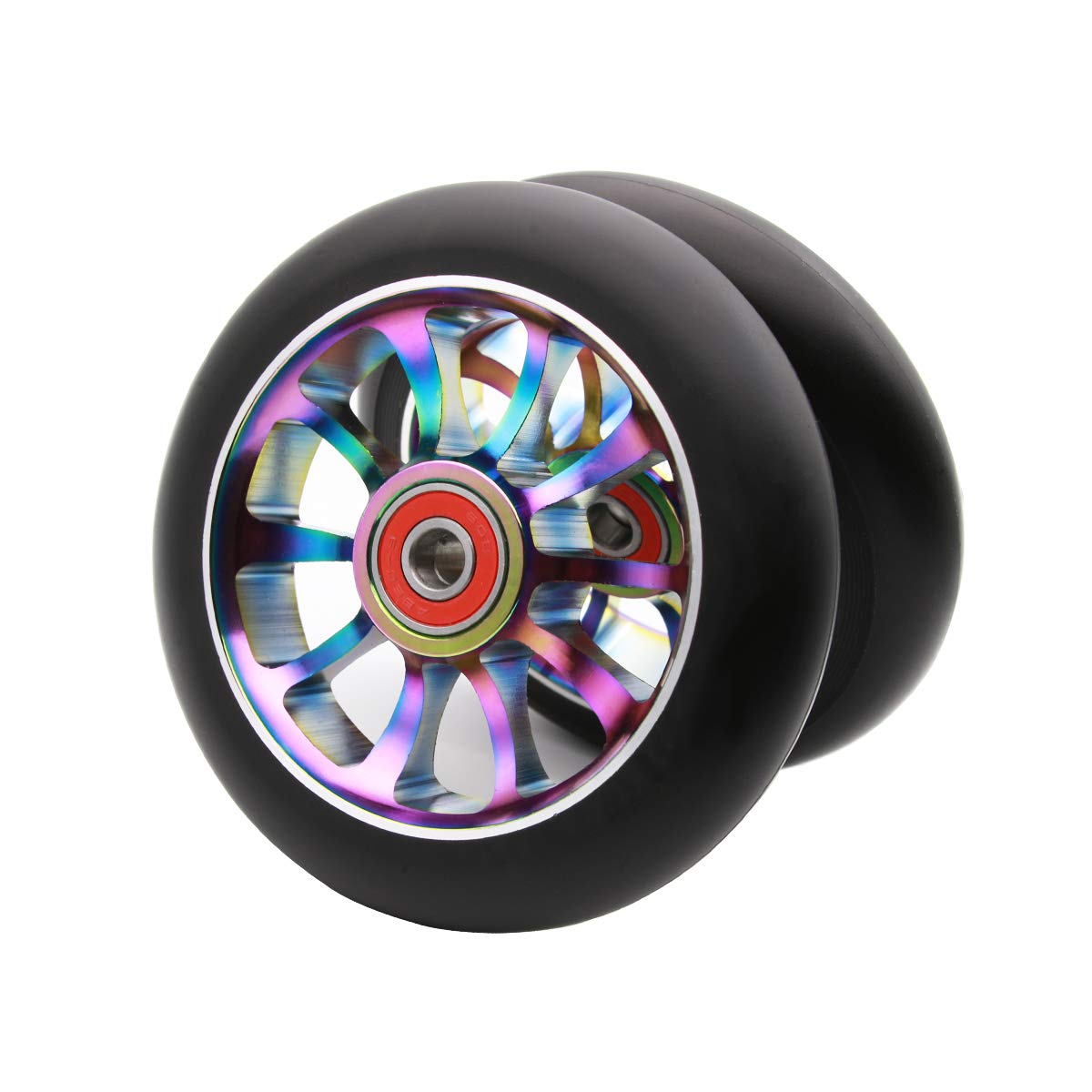 Z-FIRST 2Pcs 110mm Pro Scooter Wheels with ABEC 9 Bearings Fit for MGP//Razor//Lucky Envy//Vokul Pro Scooters Replacement Wheels