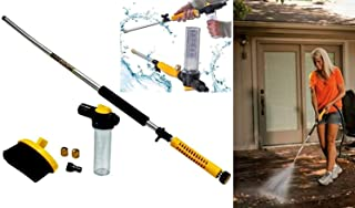 Amazing Mart Water Zoom Jet Power Pressure Washer Lance Garden Hose Attachment with Soap Dispenser and Brush - Ideal for W...