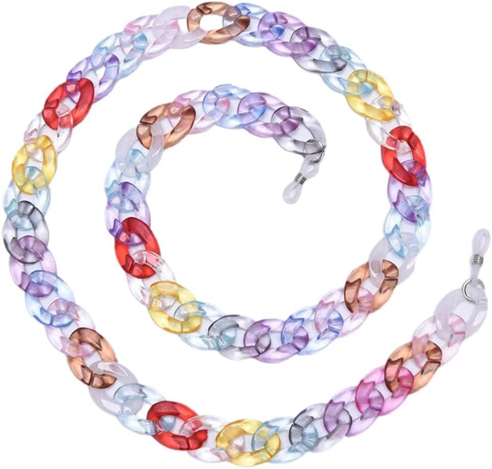 NJBYX Reading Glasses Hanging Neck Chain Glasses Chain Acrylic Sunglasses Chain Women Eyeglasses Strap (Color : B)