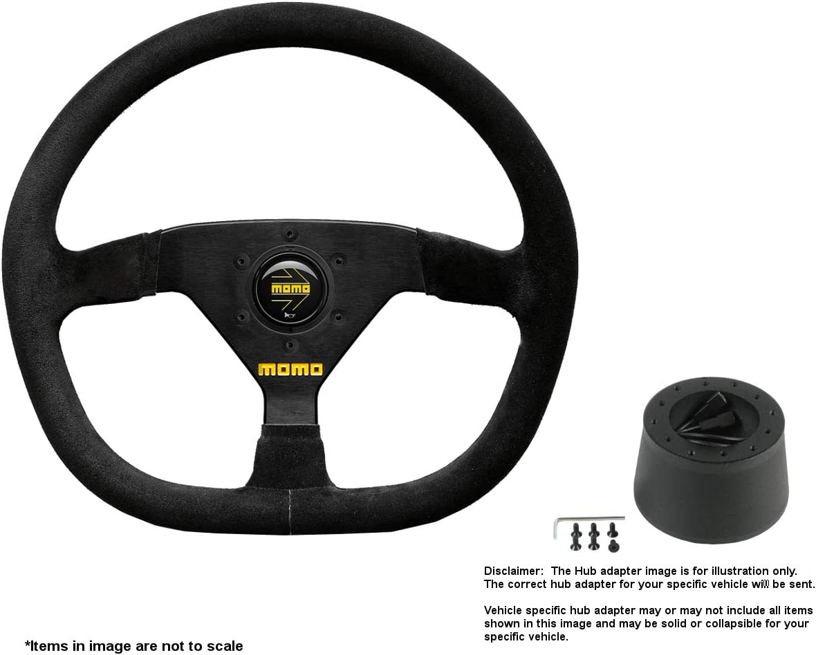 MOMO MOD.88 320mm 12.6 Inches Suede Super Special SALE held Steering Brushed Mesa Mall w Wheel B