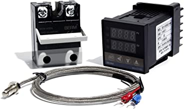 REX-C100FK02-VAN PID Temperature Controller with New Solid State Relay BEM-40DA with 1m M6 K Thermocouple