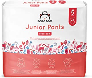 Marca Amazon- Mama Bear Pañal de aprendizaje junior- Talla 5 (13-20kg), 80 pañales (2x40)