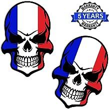 Vinyl Frankrijk vlag schedel doodshoofd sticker st...