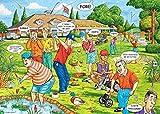 Luufei 1000-piece Rompecabezas para Adultos Niños Edad 8 años Juguete para Hombres Mujeres Niños Niño Niña Arte Decoración Paisaje Cartel Fantasía Golf