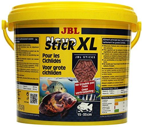 JBL NovoStick XL 30282 Alleinfutter für große fleischfressende Buntbarsche, Sticks 5,5 l