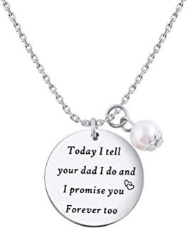 Stepson Keychain Stepdaughter Necklace Birthday Gifts from Stepmom Wedding Bridal Gift for Daughter Son