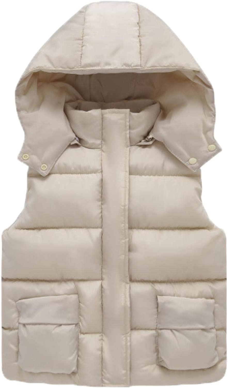 Girls Cotton Vest Autumn Kids Boys Sleeveless Jacket Child Baby Girls Coat ,beige,4T