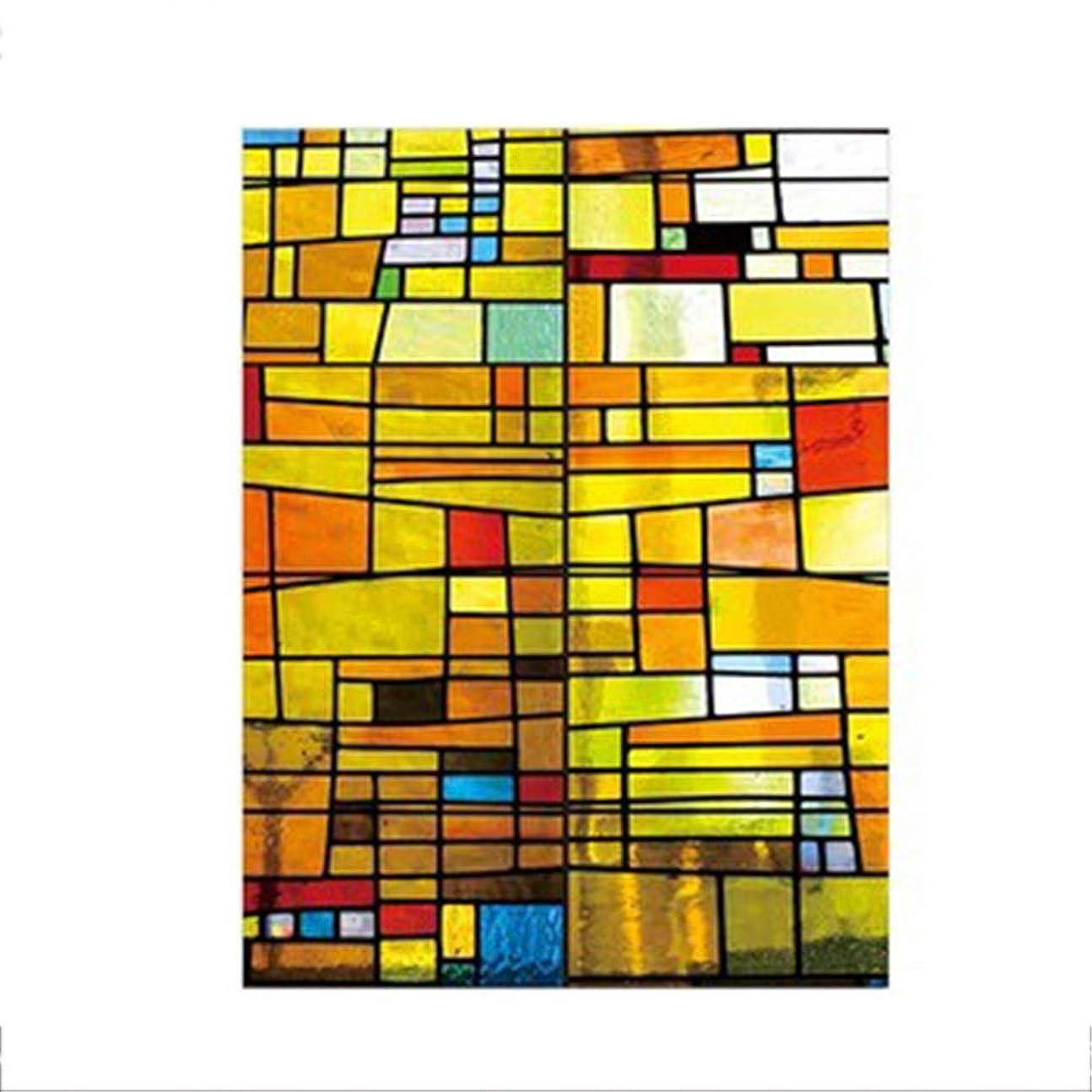 ガジュマル精神地図DEWUFAFA ウィンドウフィルム静的しがみつくウィンドウフィルム3D自己粘着粘着装飾プライバシーホームキッチンOfficeのフロストガラス窓のフィルムステッカーアンチUV、 (Color : D, Size : 100x180cm)