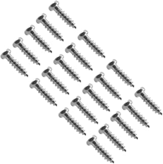 Seismic Audio - SAGA03-20Pack - Chrome Replacement Screws for Bass Guitar Pickguard Covers and Luthier Projects - 20 Pack