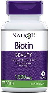 Natrol, Biotin, 1000 mcg, Healthy Hair & Nails, Convert Food into Energy, 100 Tablets