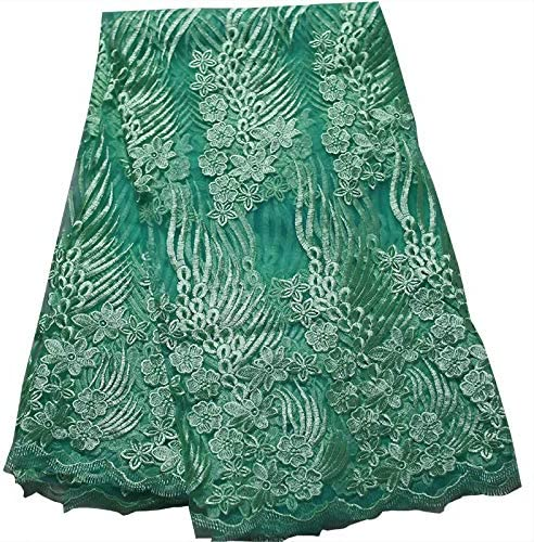 outlet 2021 Cheap 3 Yards 3D Flower Fabric Nigeria Tulsa Mall African Lace La