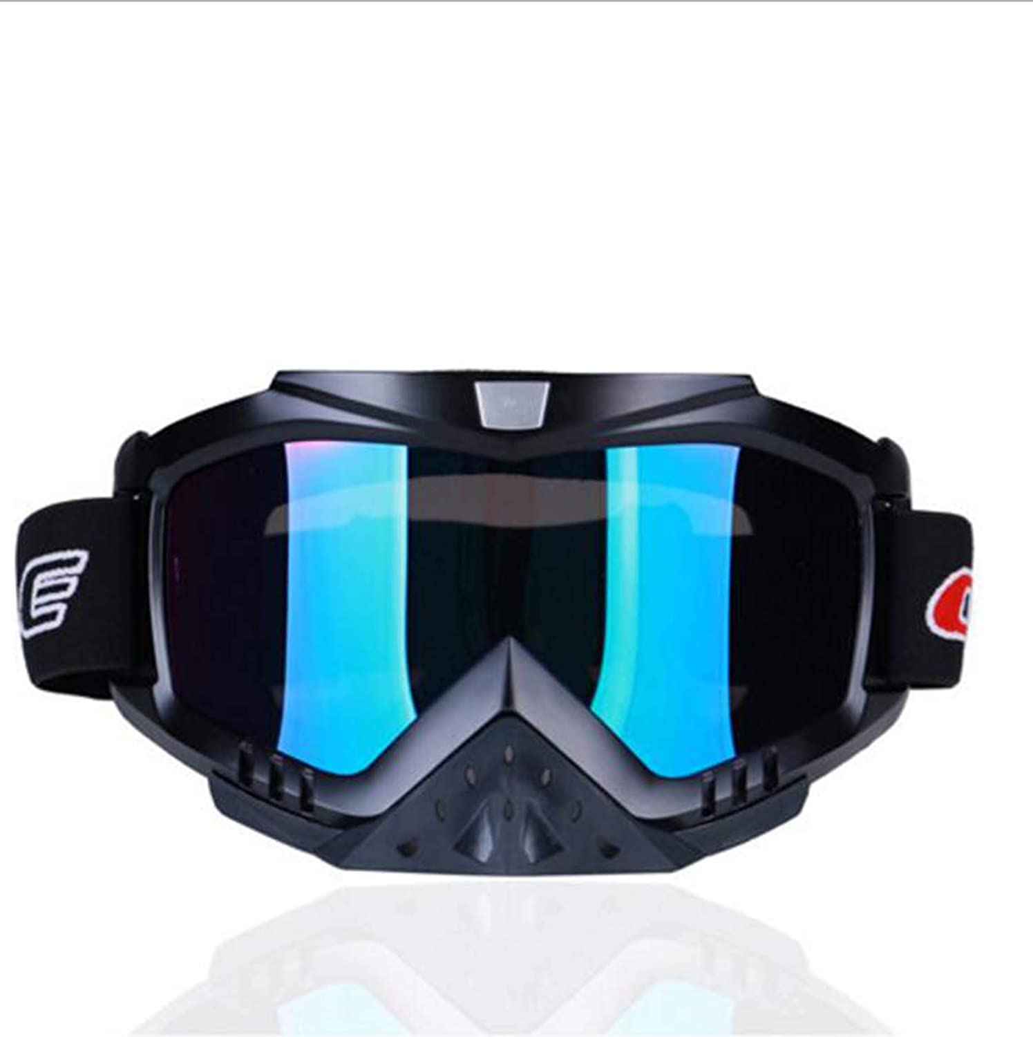 Goggles Motorcycle CrossCountry Goggles Outdoor Riding Ski Goggles Windproof Glasses Rider, Male, Lady, Adult